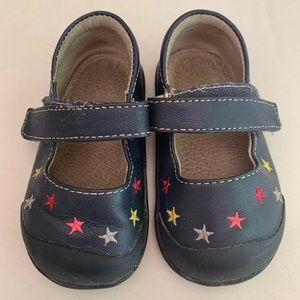 See Kai Run Blue Leather Star Mary Janes